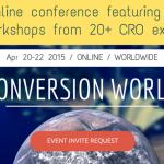 オンラインで参加できる本格ウェブマーケのカンファレンス- Conversion World 2015-