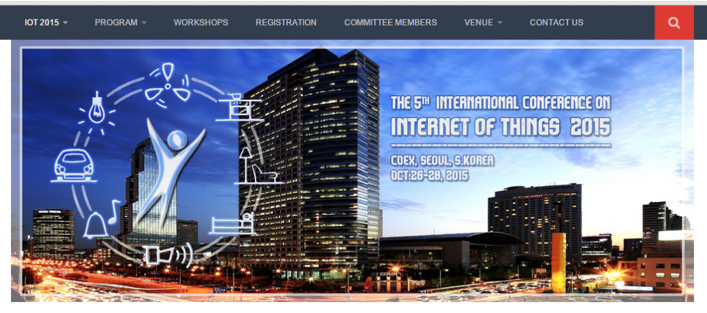 The 5th International Conference on the Internet of Things