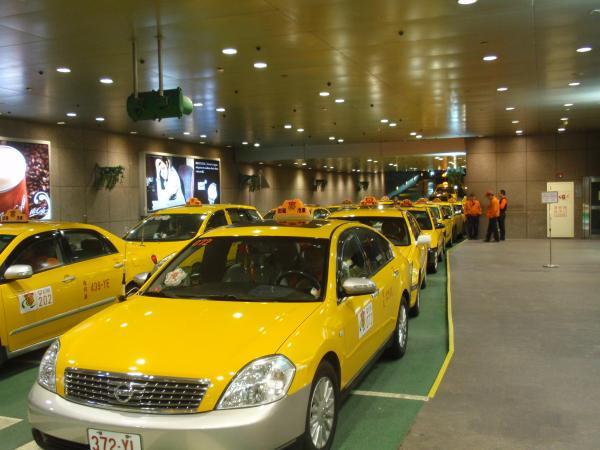 台湾タクシー乗り場